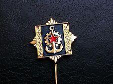 Rarre pin badge - INSIGNE MILITARY ACADEMY NAVY Engineers - JNA Yugoslavia !
