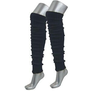 Stulpen schwarz Beinstulpen Legwarmer  XL extra lang  NEU