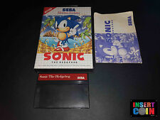 JUEGO SEGA MASTER SYSTEM  SONIC THE HEDGEHOG
