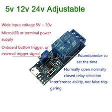 DC 5v 12v 24v Adjustable Trigger Delay Time Switch Timer Board Relay Module Car