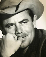 GLENN FORD 8x10 PICTURE GREAT COWBOY HAT WESTERN PHOTO