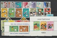 Niederländisch Antillen Jahrgang 1984 postfrisch i. d. Hauptnummern kompl 1/3063