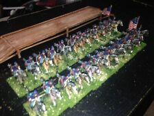 24 Painted 1/72 - 2 US Civil War Union Cavalry Regiments & Period Wood Bridge !