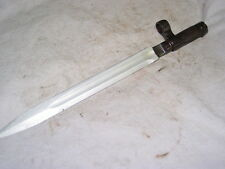 "Chinese sks 12 1/4"" blade bayonet Complete w/ slanted barrel lug Parts Russian"