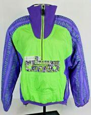 Vtg Kaelin Ski Womens 12 Parka Puffer Pullover Jacket Coat 80s 90s Neon Green