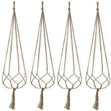 4Pcs Plant Hanger Macrame Hanging Planter Basket Rope Flower Pot Holder Chic Set