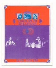 Cream Fresh Cream & Disraeli Gears Bob Masse KPPC 106.7 FM Replica Handbill-1968