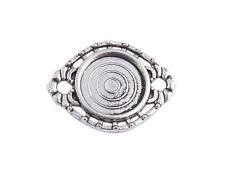 30PCS Tibetan Silver 14mm Round Cabochon Settings Links A39133