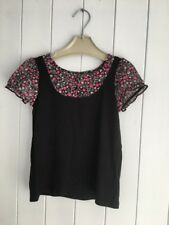 Girls Top Size 6 Years St. Bernard For Dunnes Black Floral