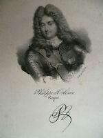 Philippe D'Orleans Regent Signatur Lithografie François Delpech Ca. 1840
