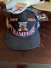 Vintage 1997 NBA Champions Chicago Bulls Official Locker Room Hat