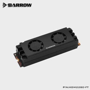 Barrow Black M.2 SSD 2280/22110 Dual Fan Heatsink Cooler - 132