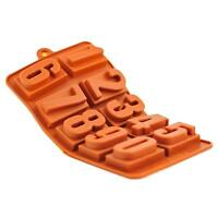 Silicone Chocolate Mould Tray Round Icing Craft Cake Jelly Baking Numbers