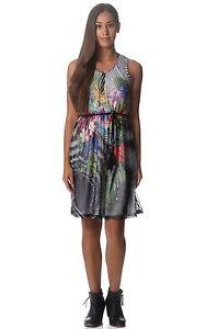 Desigual Chiffon Lightweight Sleeveless Summer Sun Dress 10 16 38 44 RP £99 BNWT