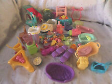 "Doll House 1"" Plates Wheel Barrow 5"" Furniture  Misc. Parts Toys"