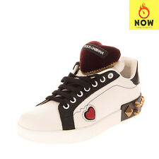 RRP €1010 DOLCE & GABBANA Leather Sneakers Size 38.5 UK 5.5 US 8.5 Portofino