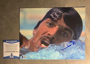 Mark Spitz Signed 8x10 Photo Beckett BAS COA Swimming Olympics Autograph Auto