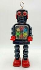 Yoshiya KO Japan Tin Robot Vintage 6 Gear Mechanical Toy Original 20-693