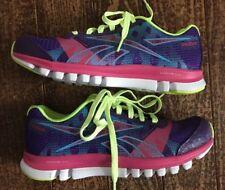 Reebok Junior Girl's Sublite Duo Chase Purple-Pink Running Shoe Size 3.5 New