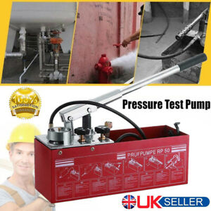 Manual Water Pressure Tester Hand Hydraulic Test Pump Leakage Pipeline System UK