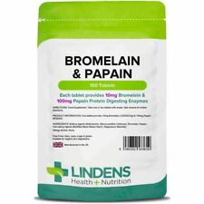 Bromelain & Papain Tablets are natural proteases enzymes break down proteins