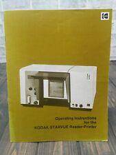 Kodak Starvue Reader Microfiche Viewer Operating And Maintenance Instructions