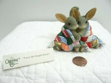 Charming Tails You're My Snuggle Bunny Rabbit Figurine 87/120 Wrapped Blanket