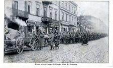 Retrait Des Forces allemandes en Sieradz Pologne c.1915