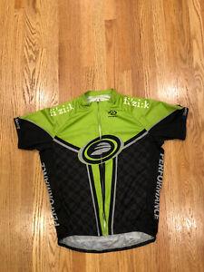 "Men's Size Medium M PRIMAL ""Fi'zi:k"" Short Sleeve Full Zip Cycling Jersey Green"