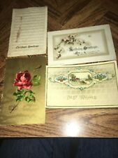 Vintage Lot Of 4 Vintage Post Cards Printed In Germany 1900's Unposted/W Writing