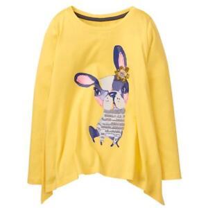 NWT Gymboree Hello Yellow Frenchie Swing Top Tee Shirt Top Girls S,M,XL