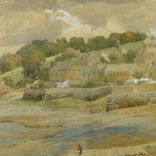19th Century English Watercolour Hooe Lake Devon by Charles Davidson 1824-1902