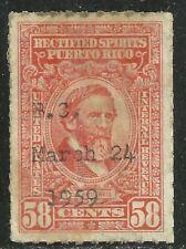 U.S. Possession Puerto Rico revenue stamp scott re45 - 58 cent 1942-57 issue #2