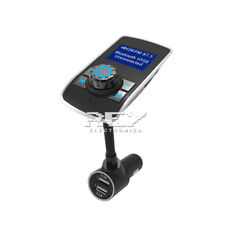 Cargador Mechero Coche MP3 Manos Libres Bluetooth 2USB Micro SD Pantalla d327