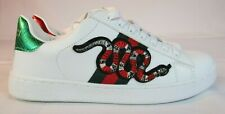 Gucci Ace Embroidered Snake Shoes Sneakers Women's Size 8.5 Men's 6.5