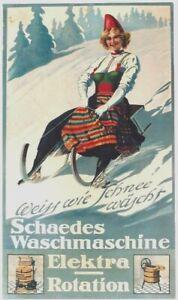 Original vintage poster SCHAEDES LAUNDRY LUGE SPORTS c.1910