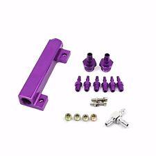 Gsp Aluminum Turbo Wastegate Bosst Vacuum Intake Manifold 6 Port 1/8 NPT Purple