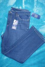 Petite Chaps Denim Jeans Pants-14P-NWT-Straight Leg-Slimming Fit