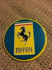 Vintage 1950's Wheaties Car Tin Emblem Ferrari Very Rare Nice Condition