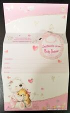 Invitations Baby Shower Spanish Pink Party 10 Girl Bear Invitaciones Decoration