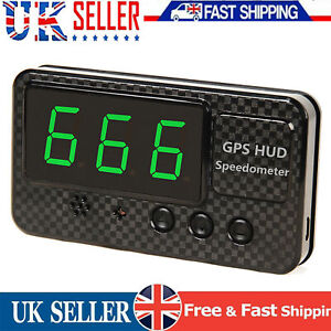HEAD-UP DISPLAY HUD GPS 12V DIGITAL LED SPEEDO SPEEDS WARNING CAR BUS VAN UK NEW