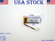 3.7V 150mAh 501230 Lithium Polymer LiPo Rechargeable Battery (USA STOCK)