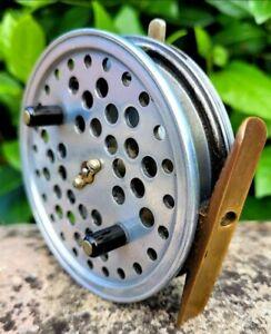 "Vintage Hardy Eureka Centre Pin Fishing Reel   3 1/2"" grayling roach chub tench"