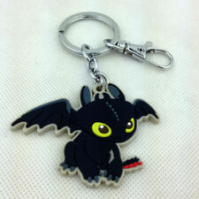 How to Train Your Dragon Film Night Fury Toothless Rubber Keychain Key Ring