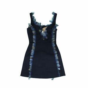 Christopher Kane Women's Mini Dress 8 Blue, Blend - silk