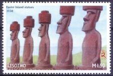 Lesotho 1999 MNH, Easter Island Statues 1150, Millennium (n)