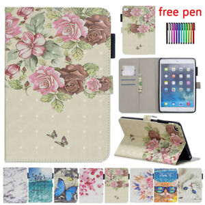 For iPad Mini 12 3 4 5 Air Pro 9.7 5th 6th Gen Smart PU Leather Stand Case Cover