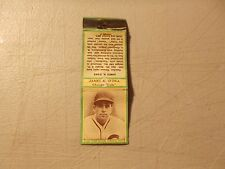 1935 Diamond BASEBALL Matchcover JAMES K. O'DEA CHICAGO CUBS GREEN Border