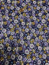 Purple Flowers Fabric  6 Yards 100% Cotton  # 126