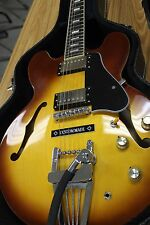 Epiphone es-335 pro LE ICE TEA tremolo installed, rewired w/ Parson St. pickups